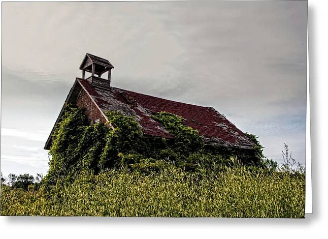 Abandoned School House. Greeting Cards - Old School House Greeting Card by Ginger Harris