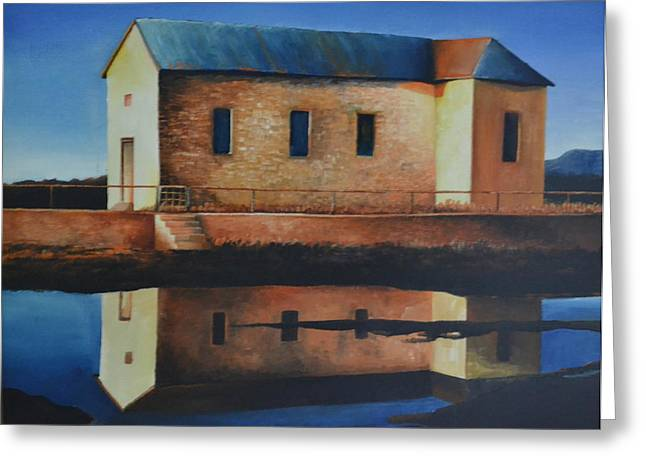 Old School House Greeting Card by Martin Schmidt