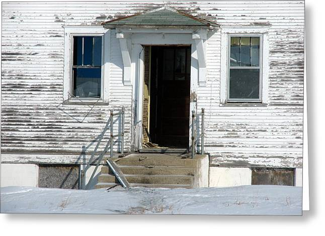 Abandoned School House. Greeting Cards - Old School House Greeting Card by ML Boe