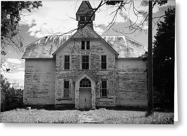 Abandoned School House. Greeting Cards - Old School House Greeting Card by Theresa Fiacchi