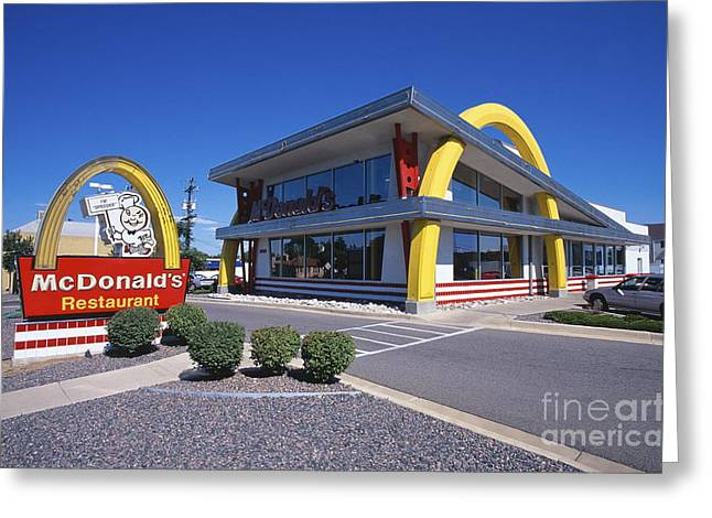Take-out Greeting Cards - Old School Mcdonalds Greeting Card by Chris Selby