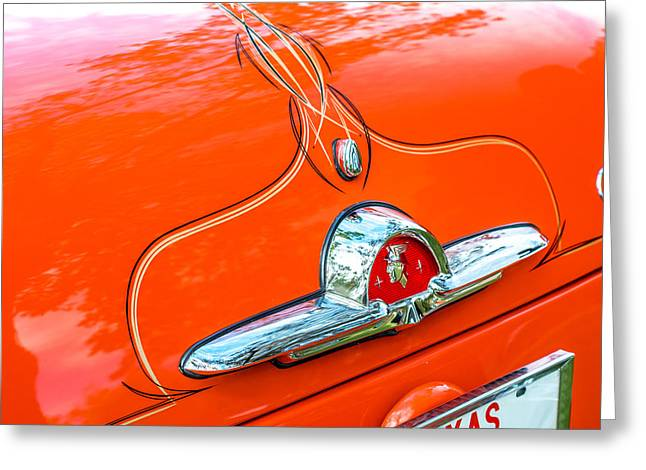 Automobile Greeting Cards - Old School Pinstriping Greeting Card by David Morefield