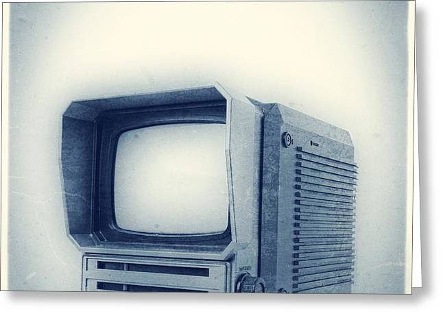 Old School Television Greeting Card by Edward Fielding