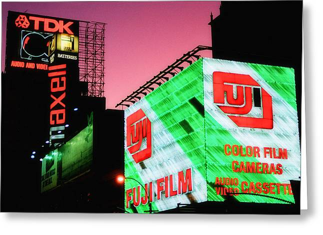 Theatre Billboard Greeting Cards - Old School Times Square 2 Greeting Card by Joann Vitali