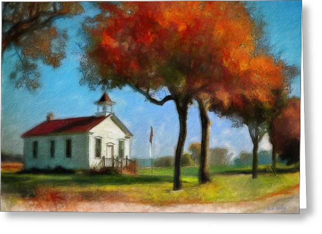 Red School House Greeting Cards - Old Schoolhouse Greeting Card by Bob Galka
