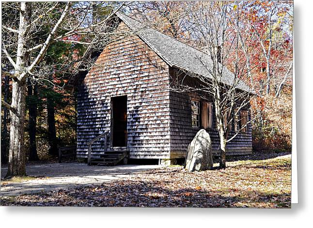 Old Schoolhouse Building Greeting Card by Susan Leggett