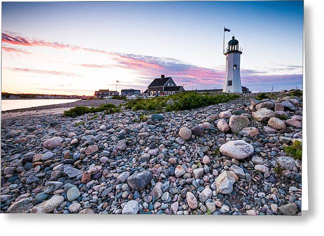 Lee Costa Greeting Cards - Old Scituate Light Greeting Card by Lee Costa