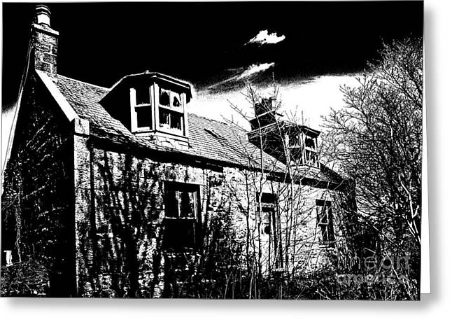 Old Scottish Farmhouse Greeting Card by Liz  Alderdice