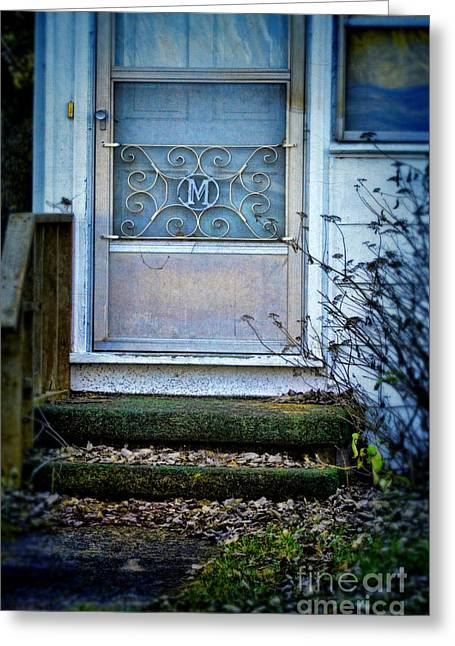 Screened Porchs Greeting Cards - Old Screen Door Greeting Card by Jill Battaglia