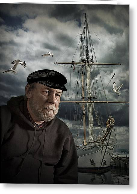 Ocean Art Photography Greeting Cards - Old Sea Captain Greeting Card by Randall Nyhof