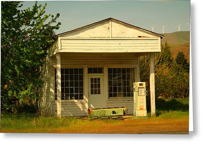 Run Down Greeting Cards - Old Service Station Greeting Card by Jeff  Swan
