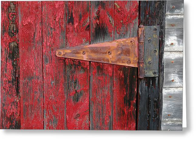 Gatineau Park Greeting Cards - Old shed door hinge. Greeting Card by Rob Huntley