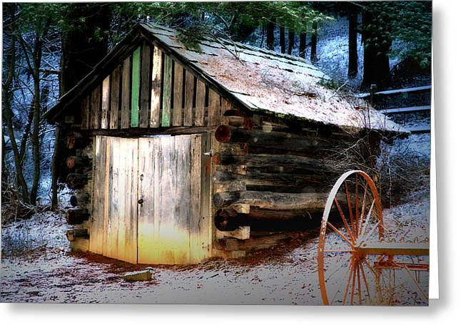 Vinter Greeting Cards - Old Shed Greeting Card by Lj Lambert