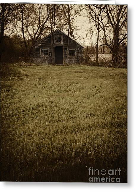 Fall Grass Greeting Cards - Old Shed Greeting Card by Margie Hurwich