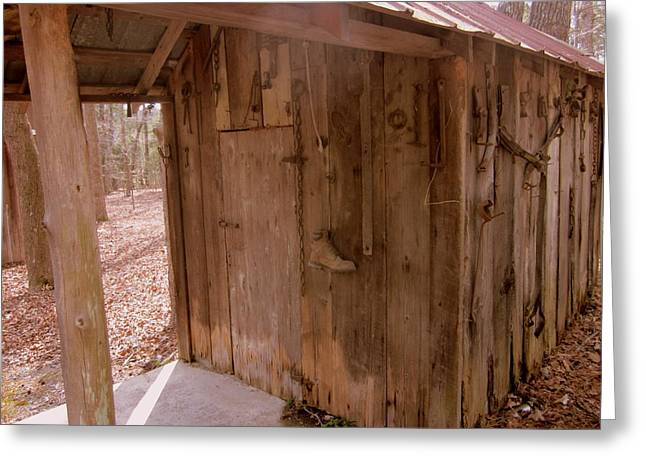 Shed Greeting Cards - Old Shed Greeting Card by Peter LaPlaca