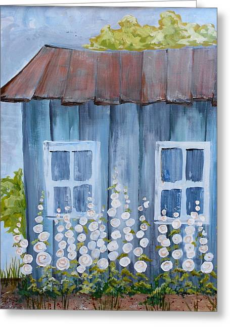 Shed Paintings Greeting Cards - Old Shed Greeting Card by Phiddy Webb