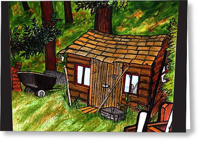 Old Shed Shed Greeting Card by Ryan Lee