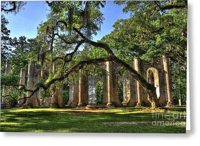 Civil War Site Greeting Cards - Old Sheldon Church Ruins 2 Greeting Card by Reid Callaway