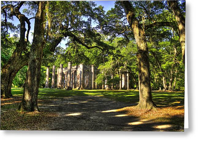 Civil War Site Greeting Cards - Old Sheldon Church Ruins 7 Greeting Card by Reid Callaway