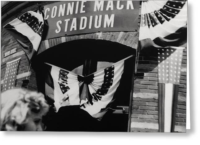 Old Shibe Park - Connie Mack Stadium Greeting Card by Bill Cannon