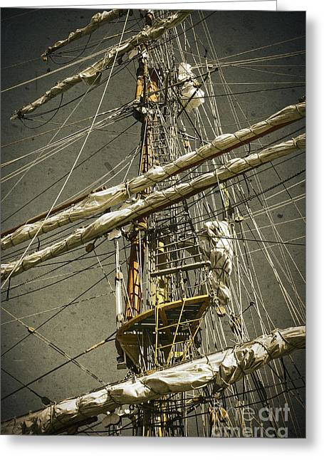 Pirate Ship Greeting Cards - Old ship Greeting Card by Carlos Caetano