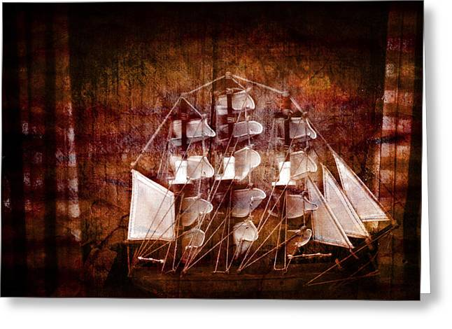 Sailer Greeting Cards - Old ship Greeting Card by Toppart Sweden