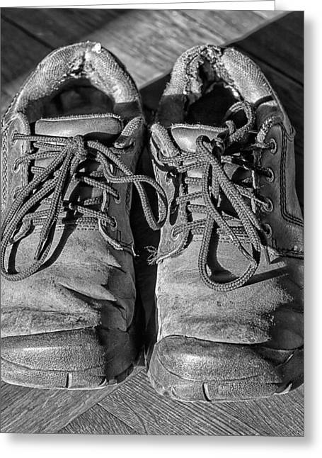White Shoes Greeting Cards - Old Shoes 2 Greeting Card by Robert Ullmann