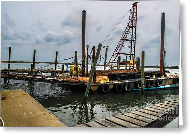 Snead Greeting Cards - Old Shrimper Greeting Card by Scott Hervieux