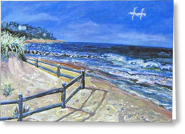 Falmouth Massachusetts Greeting Cards - Old Silver Beach Greeting Card by Rita Brown