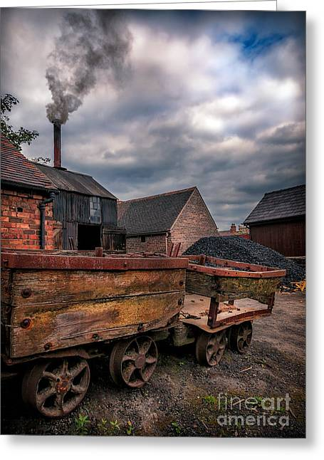 Coalmine Greeting Cards - Old Smoke Greeting Card by Adrian Evans