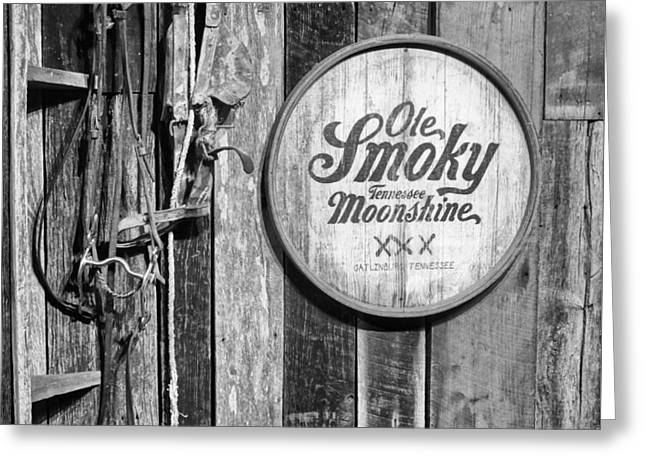 Booze Greeting Cards - Ole Smoky Moonshine Greeting Card by Dan Sproul