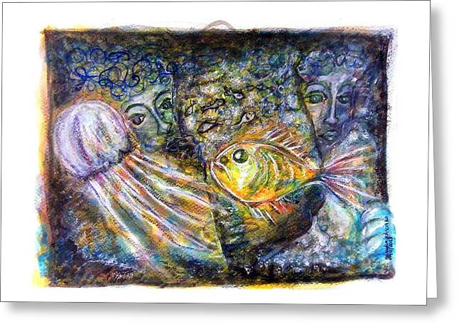 Old Souls Of Atlantis Greeting Card by Mimulux patricia no