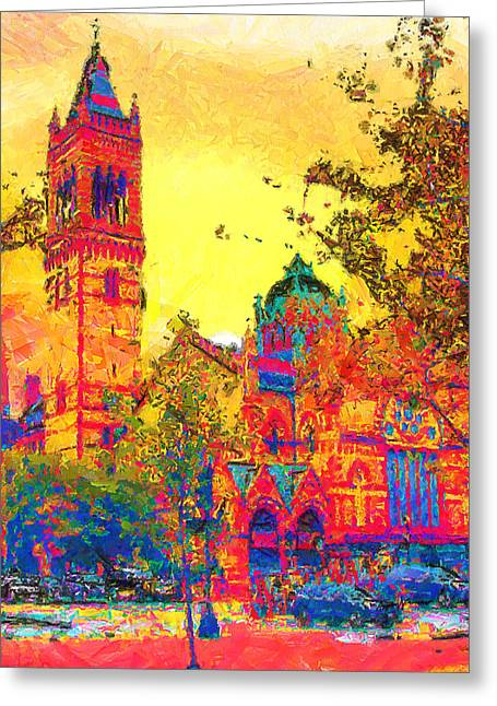 Cityscene Greeting Cards - Old South Church Greeting Card by Anthony Caruso