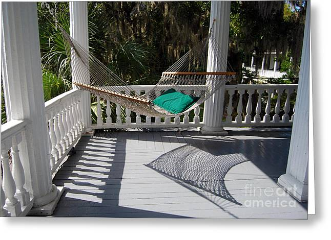 Catherine White Greeting Cards - Old South Hammock Greeting Card by Catherine Sherman