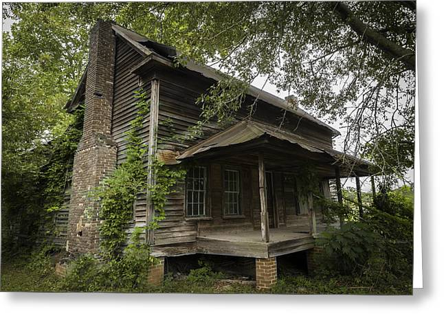 Tin Roof Greeting Cards - Old Southern Farm House Greeting Card by Jamie Anderson