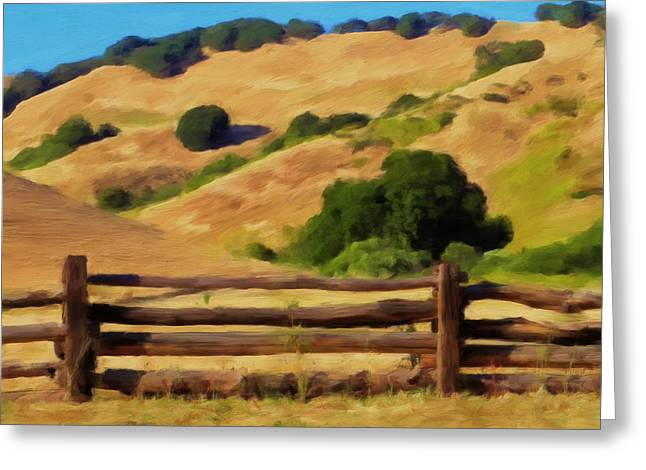 Split Rail Fence Greeting Cards - Old Split Rail Fence Greeting Card by Michael Pickett