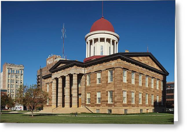 Springfield Greeting Cards - Old State Capital Springfield Illinois Greeting Card by Joshua House