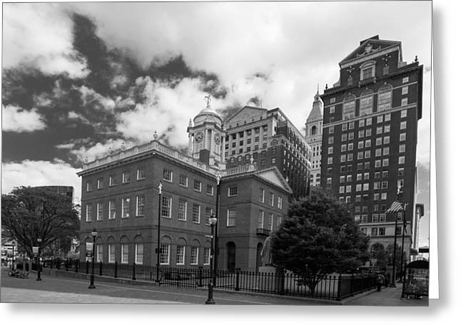 Guy Whiteley Greeting Cards - Old State House 15568b Greeting Card by Guy Whiteley