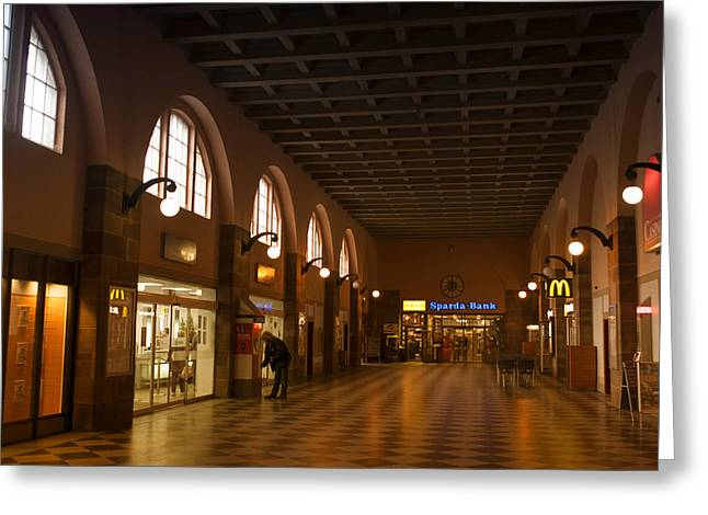 Fenster Greeting Cards - Old Station Greeting Card by Miguel Winterpacht