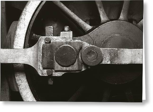 Locomotive Wheels Greeting Cards - Old Steam Greeting Card by Amarildo Correa