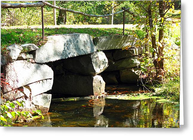Sudbury Ma Photographs Greeting Cards - Old Stone Bridge Greeting Card by Barbara McDevitt