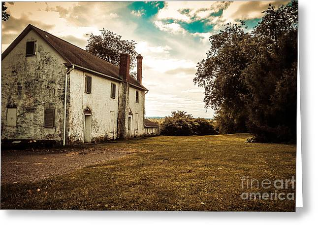 Historic Home Greeting Cards - Old Stone House Greeting Card by Dawn Gari