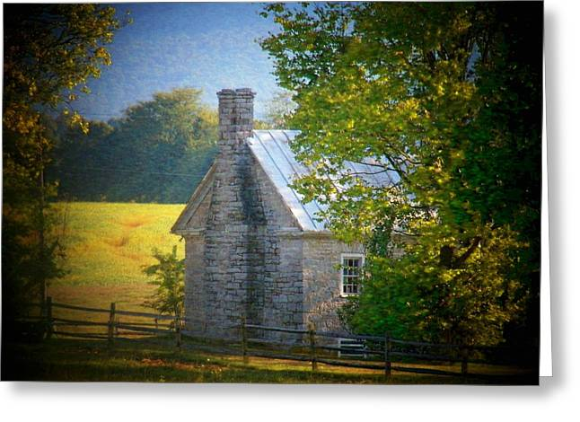 Stone House Greeting Cards - Old Stone House Greeting Card by Joyce Kimble Smith
