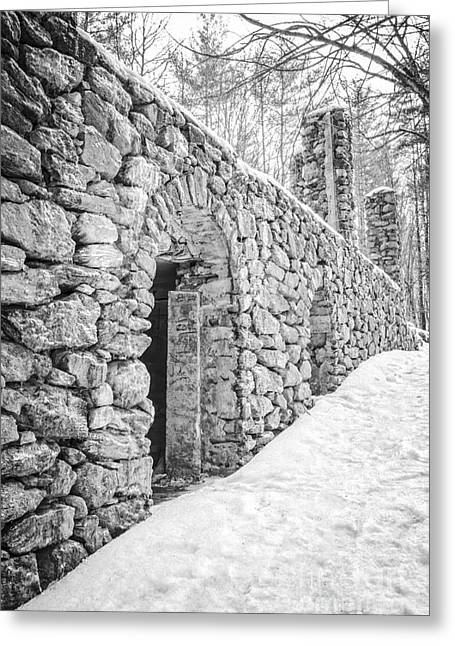 New Hampshire Greeting Cards - Old stone ruins  Greeting Card by Edward Fielding