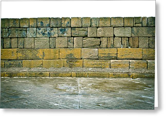 Irregular Greeting Cards - Old stone wall Greeting Card by Tom Gowanlock