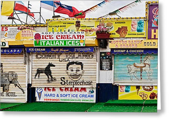 Long Island New York Greeting Cards - Old Store Front Along Riegelmann Greeting Card by Panoramic Images