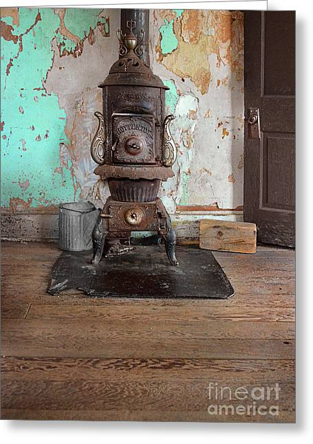 Antique Wood Stove Greeting Cards - Old Stove Greeting Card by Jill Battaglia