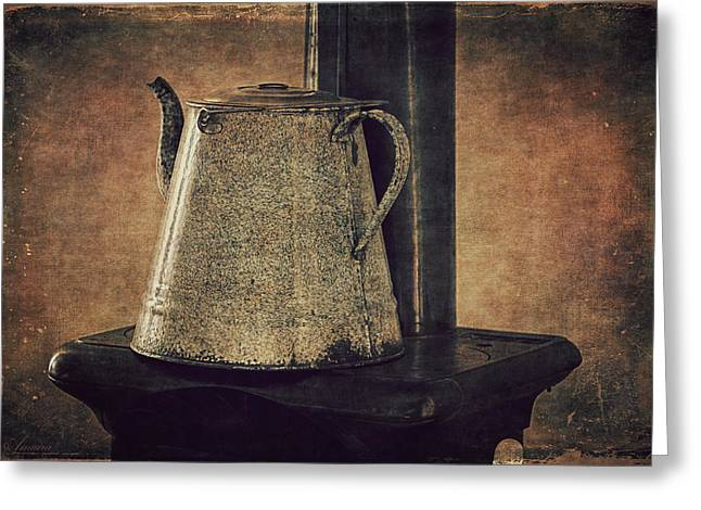 Wood Stove Greeting Cards - Old Stove Greeting Card by Maria Angelica Maira