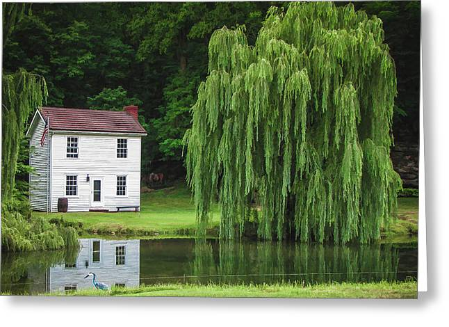 Carter House Greeting Cards - Old Stover House Greeting Card by Mel Hensley