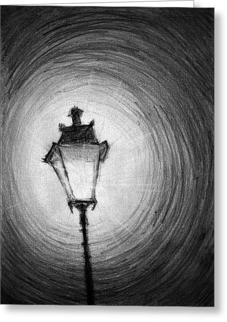 Radiancy Greeting Cards - Old Street Lamp Greeting Card by Di Fernandes